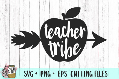 Teacher Tribe SVG PNG DXF EPS Cutting Files