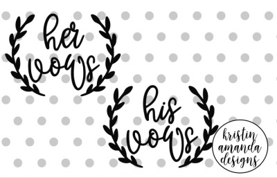 Wedding Vows Hand Lettered  SVG DXF EPS PNG Cut File • Cricut • Silhouette