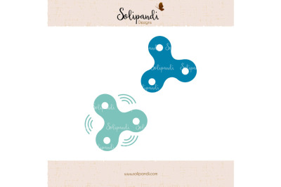 Fidget Spinner - SVG and DXF Cut Files - for Cricut, Silhouette, Die Cut Machines // scrapbooking // paper crafts // solipandi //#248