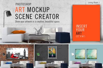 Art Mockup Scene Creator - Living 1