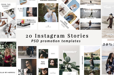 Instagram stories template bundle