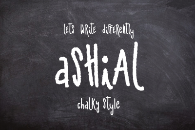 50% off-Ashial-New Chalky font