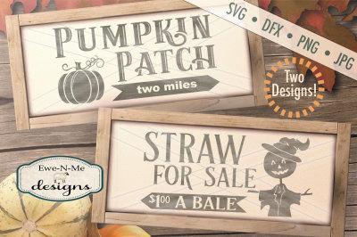 Pumpkin Patch - Scarecrow - SVG Bundle