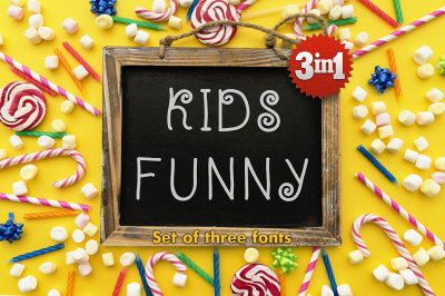 Kidsfunny - a cheerful children's font