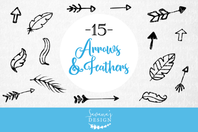 Vector Arrows and Feathers