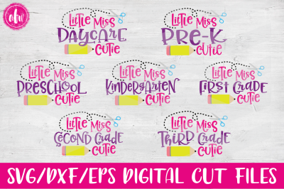 Little Miss School Cutie - SVG, DXF, EPS Cut File