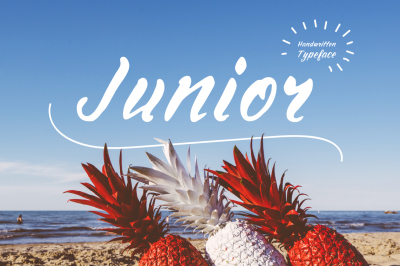 Junior—handwritten font