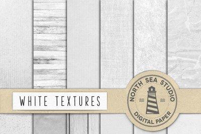 White Textures Digital Paper