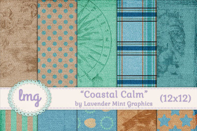 Coastal Calm Scrapbook Paper Pack