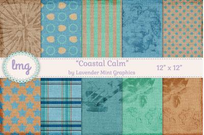 Coastal Cottage Beach Nautical Scrapbook Papers