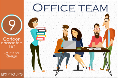 Office workers.Vector characters set