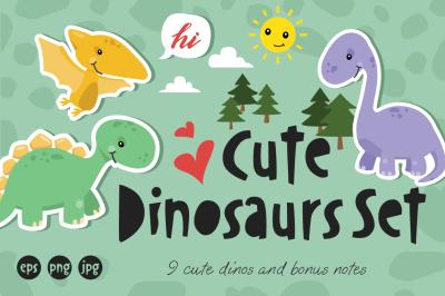 Cute Dinosaur Set
