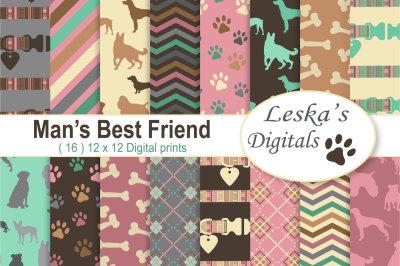 Dog Digital Paper Pack