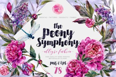 The Peony Symphony | Allegro Fuchsia