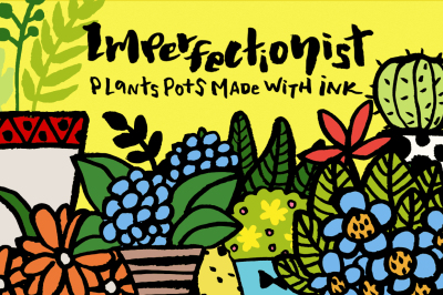 Imperfectionist - Inked Plant pots