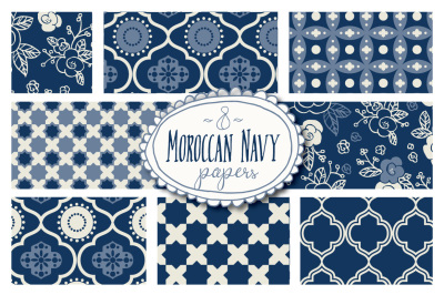 Moroccan Seamless Patterns - Vector