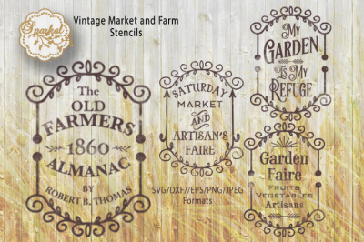 Vintage Farm Signs, Cutting Files, SVG/DXF/EPS/PNG/JPEG