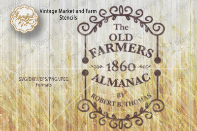 The Old Farmers Almanac 1860, Cutting File SVG/DXF