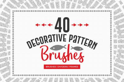 40 Decorative Pattern Brushes