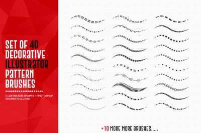 40 Decorative Pattern Brushes @$1 for limited time