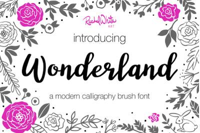Wonderland, modern calligraphy font