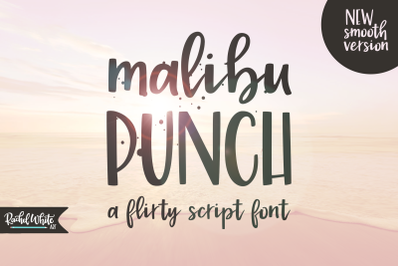 Malibu Punch, a flirty brush font