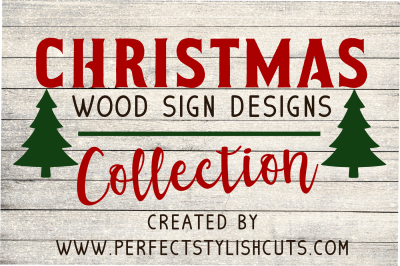 SALE! Christmas Wood Sign Designs Collection - SVG, EPS, DXF, PNG Files For Cutting Machines