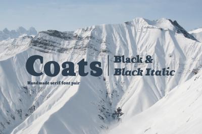 Coats Black & Coats Black Italic