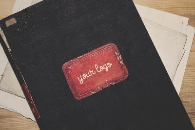 Vintage Journal Label - Mockup Set
