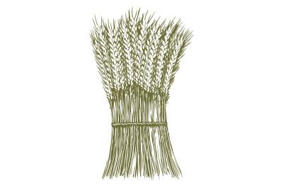 Woodcut Wheat Stack