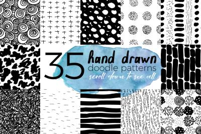 Hand Drawn Doodle Patterns Set