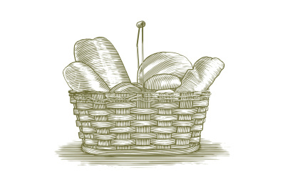 Woodcut Bread Basket