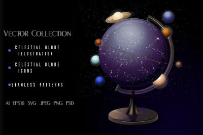 Astronomical vector collection.