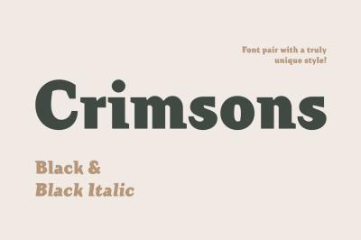 Crimsons — Black & Black Italic