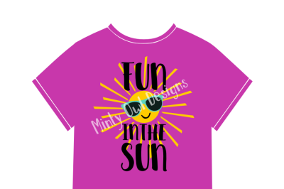 Fun In The Sun SVG Cut File