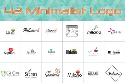 42 Minimalist Logo Pack