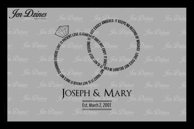 Love is Patient Rings SVG DXF EPS PNG cutting file