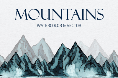 Mountains HandDrawn Vector