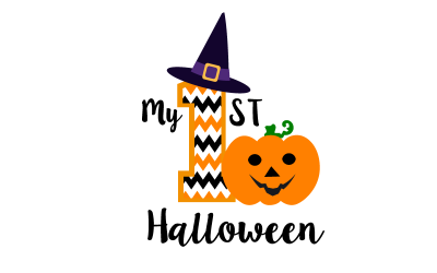 My First Halloween SVG, PNG, DXF. Baby Halloween cut file for Silhouette and Cricut.