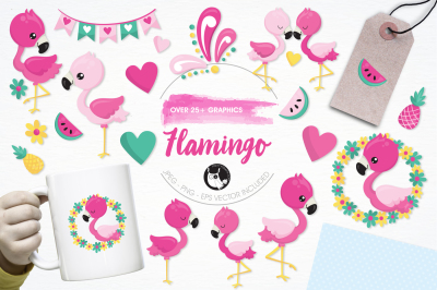 Flamingo Illustrations and Graphics