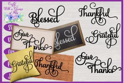 Thanksgiving SVG | Fall SVG | Autumn SVG | Thanksgiving Words SVG