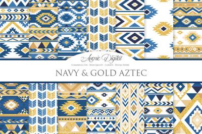 Navy and Gold Boho Patterns