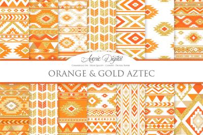 Orange Gold Boho Seamless Patterns