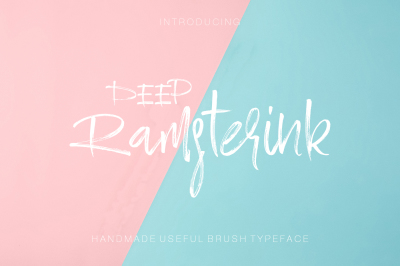 Ramsterink Brush Font