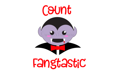 "Halloween ""Count Fangtastic"" SVG design. Cutting file for silhouette cameo and cricut. SVG, PNG, DXF"