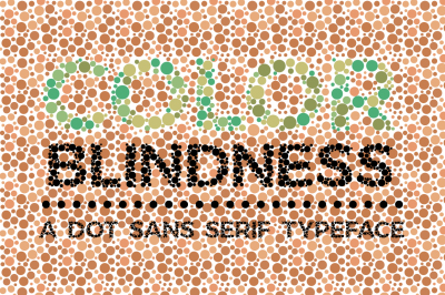 Color Blindness Test Typeface