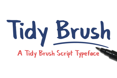 Tidy Brush Script Typeface