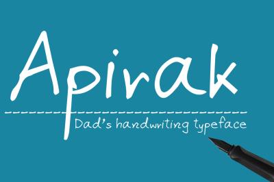 Apirak Handwriting Typeface