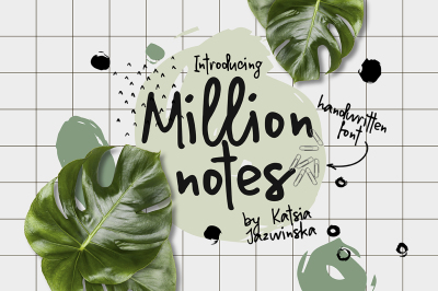 Million Notes | Handwritten Script