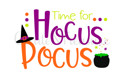 Halloween svg, Hocus Pocus. Cutting file for silhouette and cricut . SVG, PNG, DXF